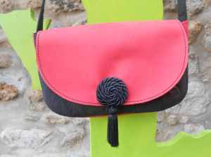 sac Gaïa noir et rouge