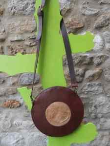 sac soucoupe marron